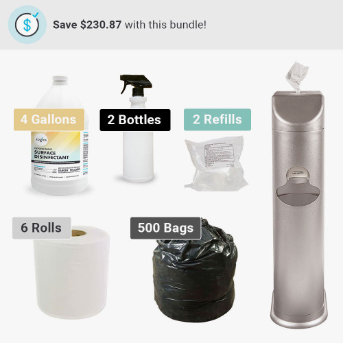 The Cleaning Station All-In-One Dry Wipes Bundle