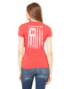 Bella + Canvas Ladies' The Favorite T-Shirt 6004 Heather Red, with Bullard Flag Print in White Ink