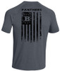 Under Armour Men's Short Sleeve Locker Tee 2.0 with 2018 Bullard PTO Flag Print