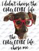 Chiweenie Life chose me Sublimation Print