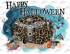 Happy Halloween Trailer Sublimation Print
