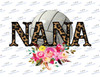 Volleyball Nana Leopard Sublimation Print