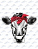 Cow Head with Red Bandanna  Sublimation Print