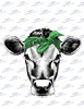 Cow Head with Green Bandanna  Sublimation Print