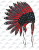 Indian Chief Headdress American Sublimation Print