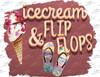 Icecream & Flip Flops Sublimation Print