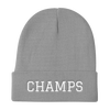 CHAMPS Embroidered Knit Beanie Grey