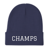 CHAMPS Embroidered Knit Beanie Blue