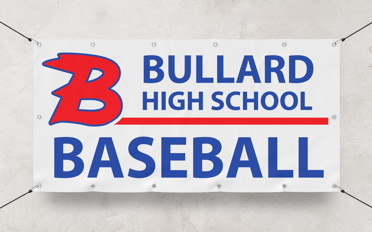 Custom Banner printing 2' x 4' banner for Bullard High School Baseball