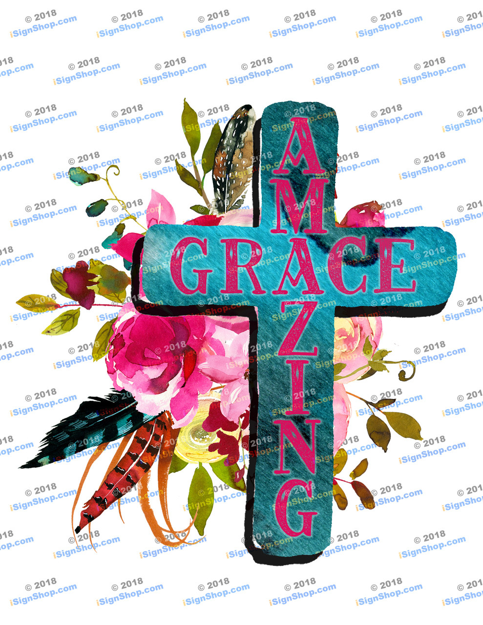 Amazing Grace Sublimation Print