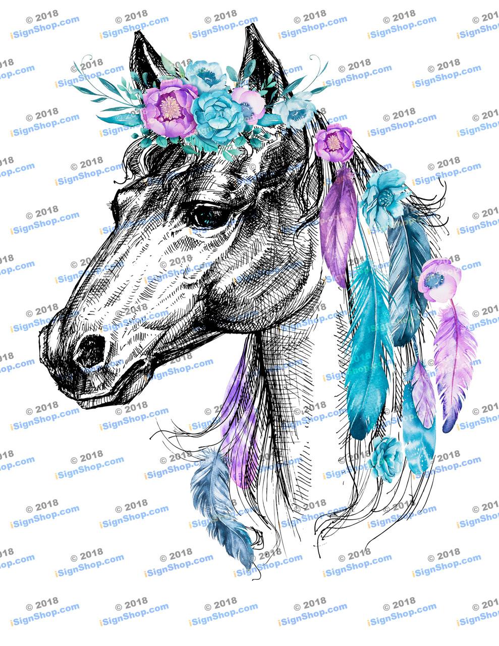 Horse Sublimation Print