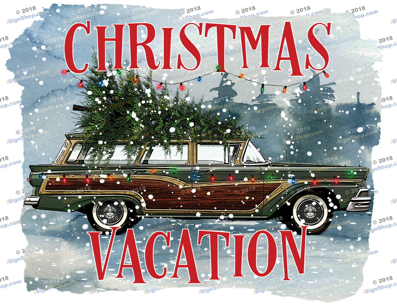 Christmas Vacation Sublimation Print