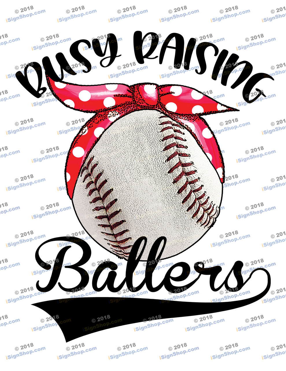 Busy raising ballers baseball Sublimation Print