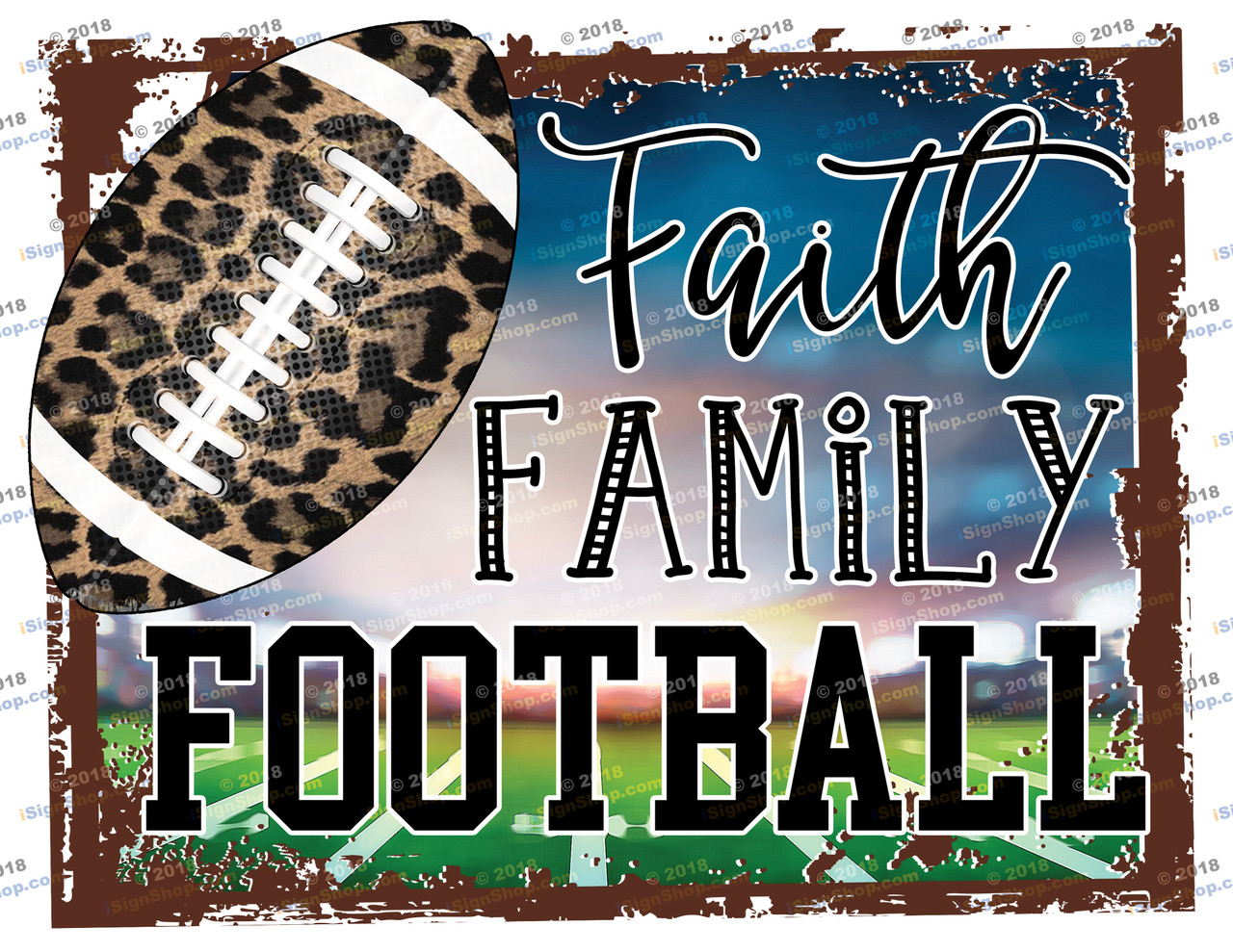 Faith Family Football Sublimation Print
