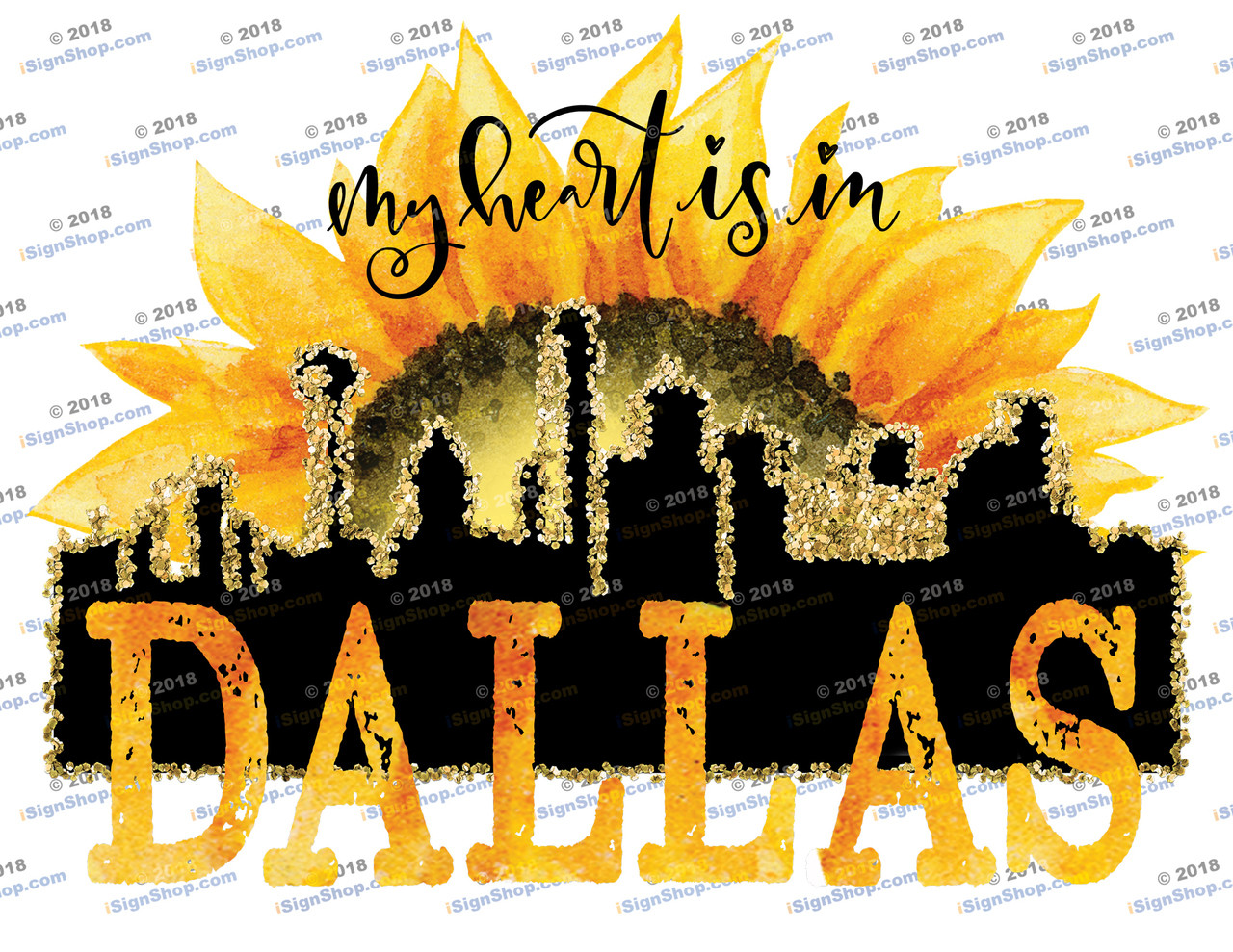 My heart is in Dallas Sublimation Print