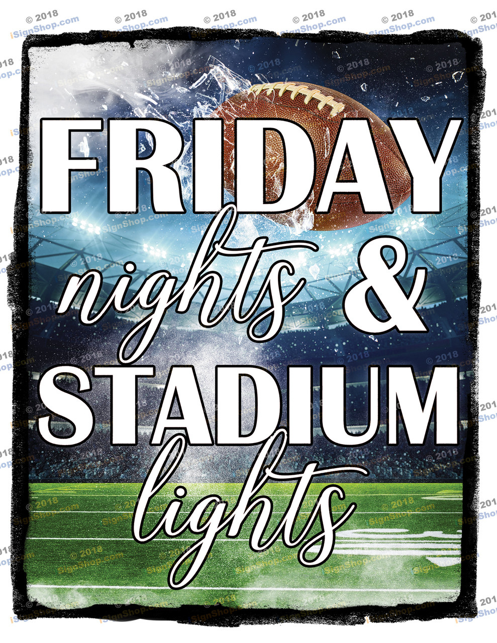 Friday nights & stadium lights Sublimation Print