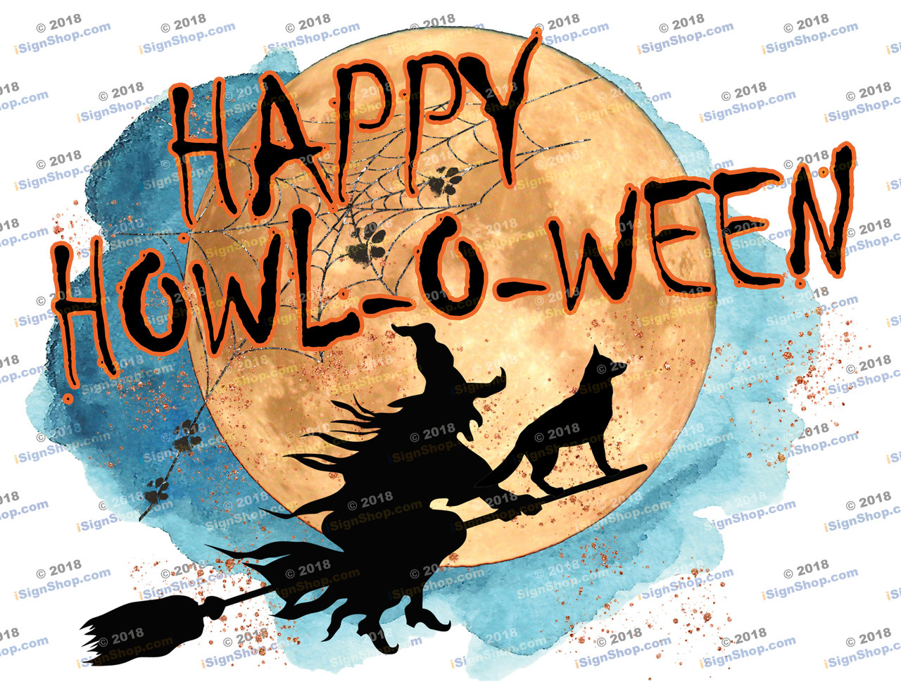 Happy Howl-o-ween Trailer Sublimation Print