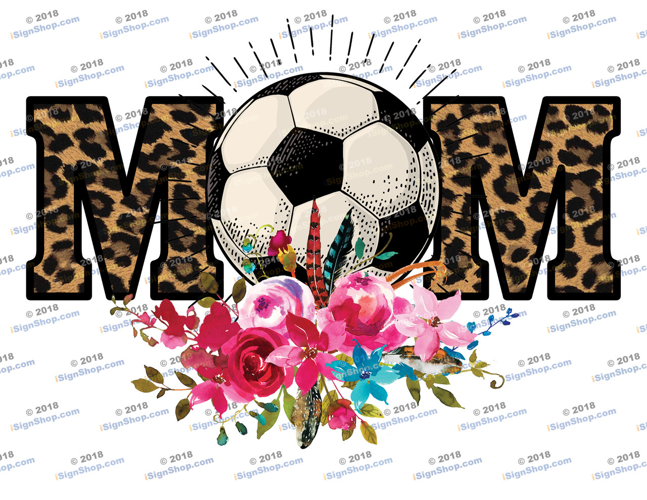 Soccer Mom Leopard Sublimation Print