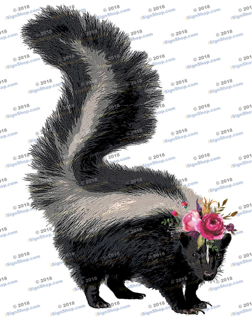 Skunk Sublimation Print