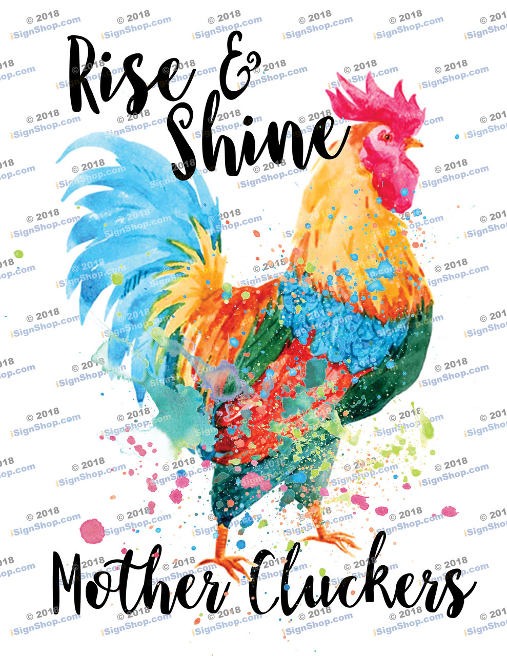 Rise & Shine Mother Cluckers Sublimation Print
