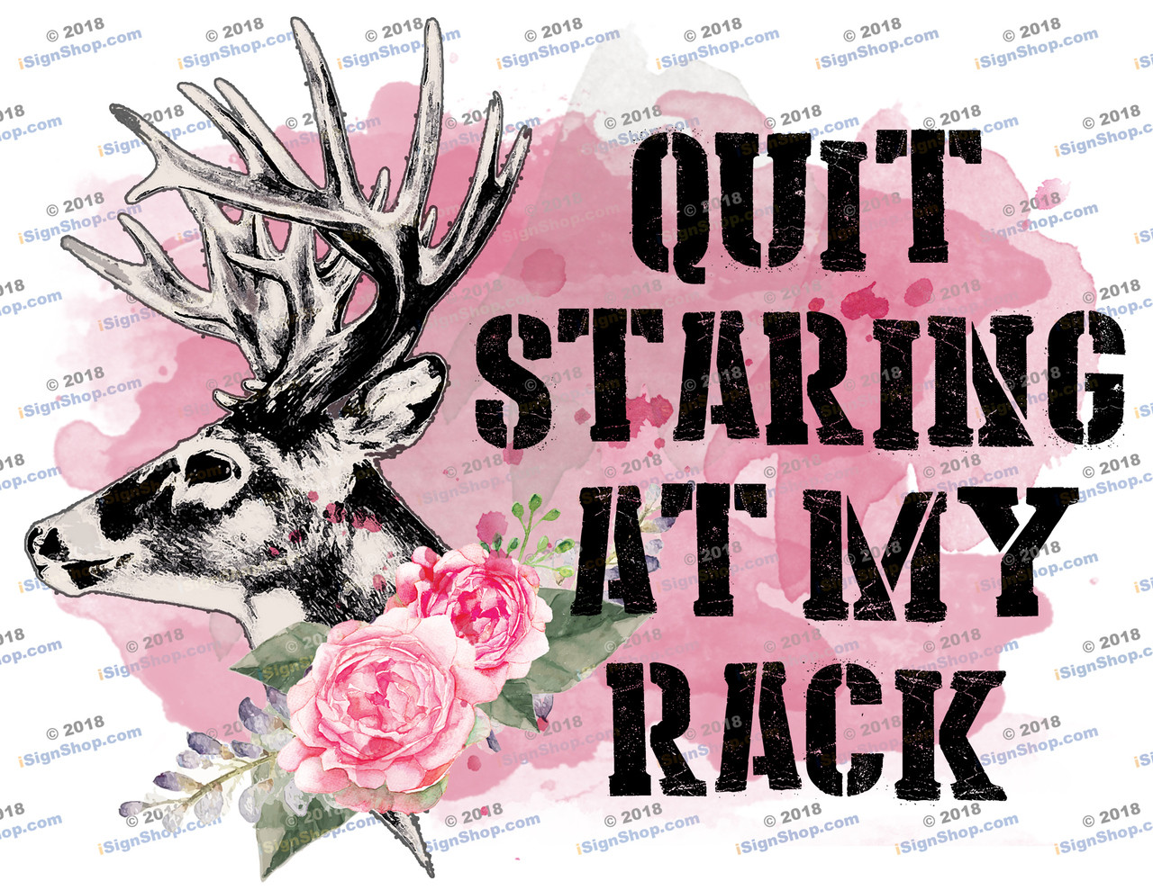 Quit staring at my rack Sublimation Print