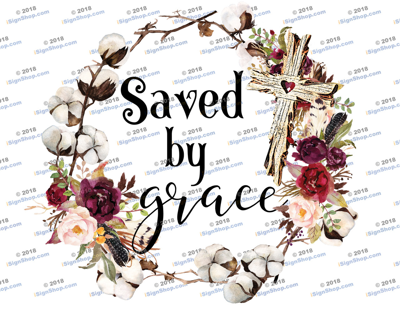 Saved by Grace Sublimation Print