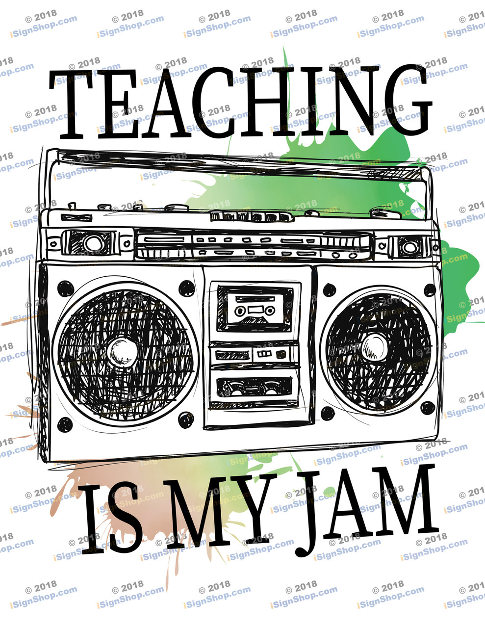 Teaching is my Jam  Sublimation Print