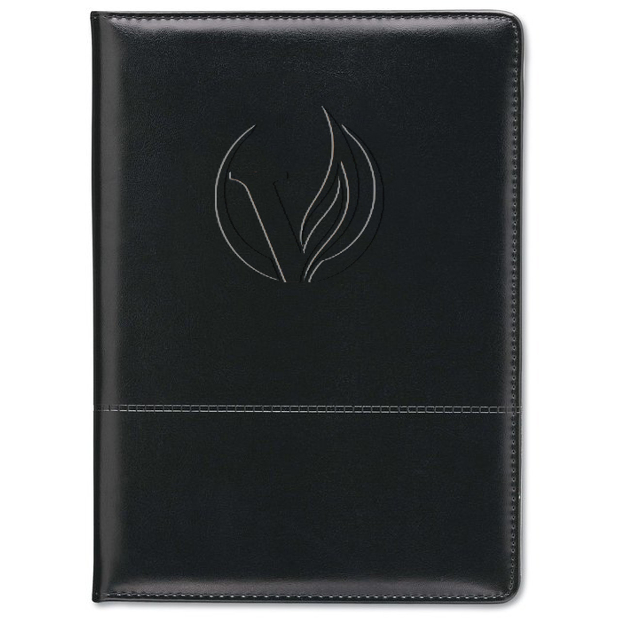 Veritas Script Zippered Padfolio (Zippered)