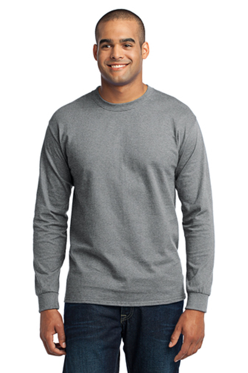 Jasper Ventures Port & Company® Grey Long Sleeve Core Blend Tee
