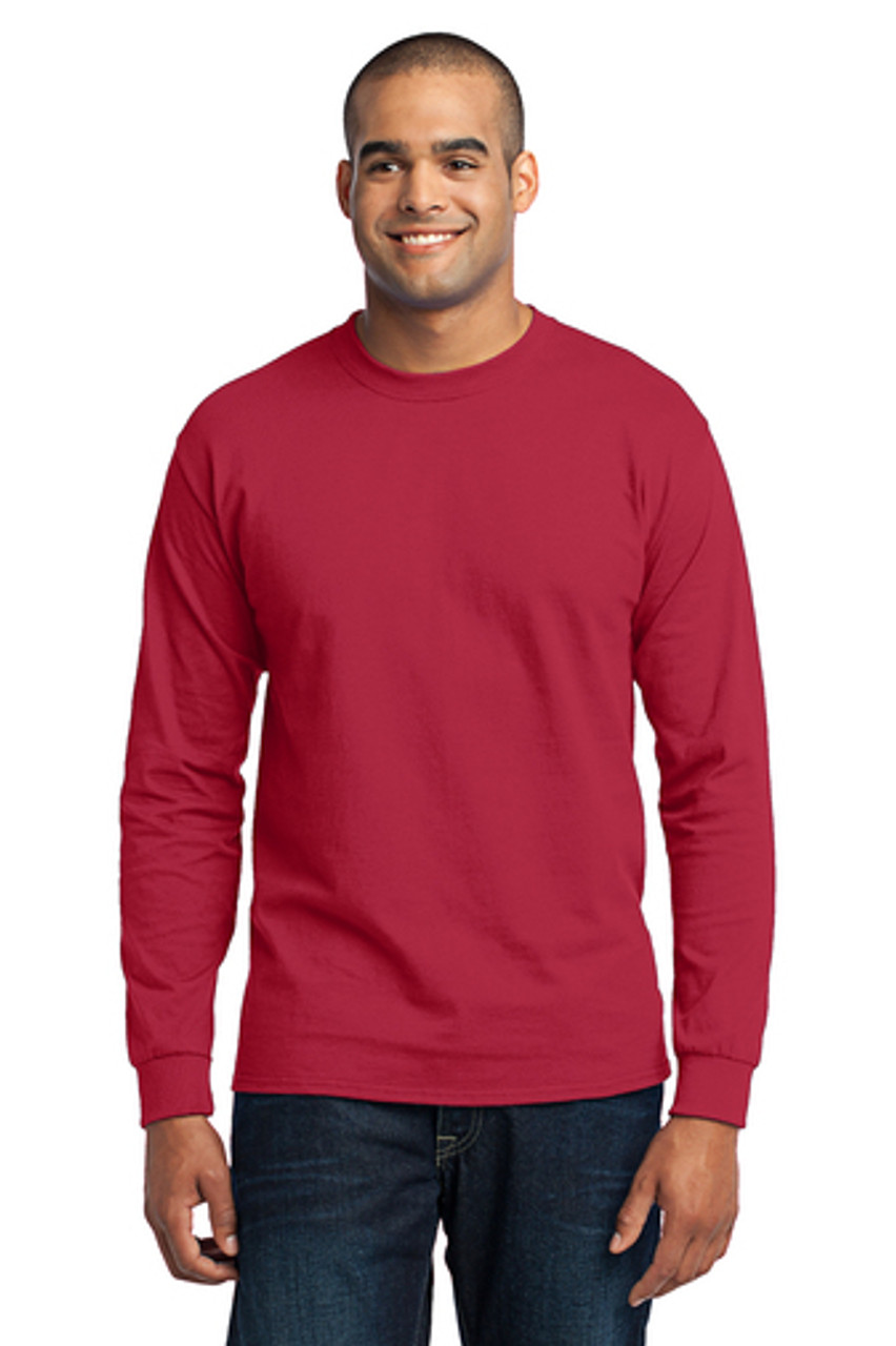 Jasper Ventures Port & Company® Red Long Sleeve Core Blend Tee