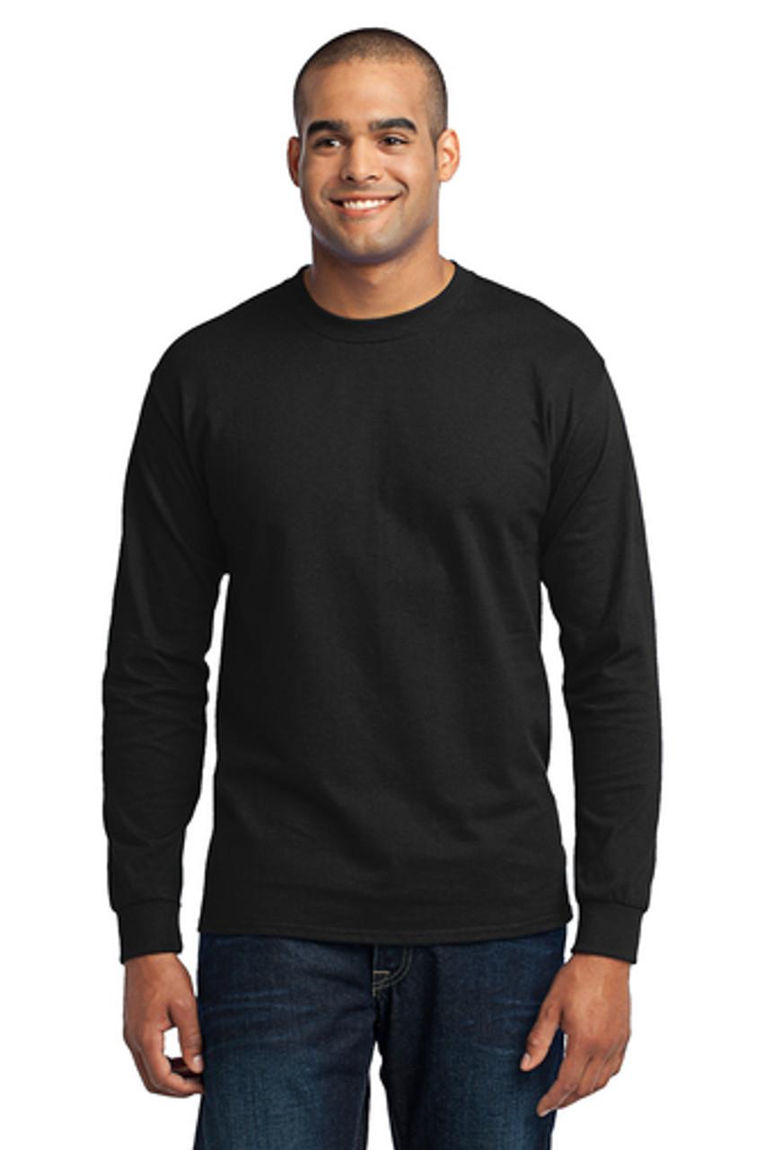 Jasper Ventures Port & Company®  Black Long Sleeve Core Blend Tee