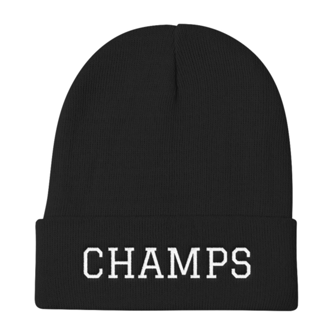 CHAMPS Embroidered Knit Beanie Black