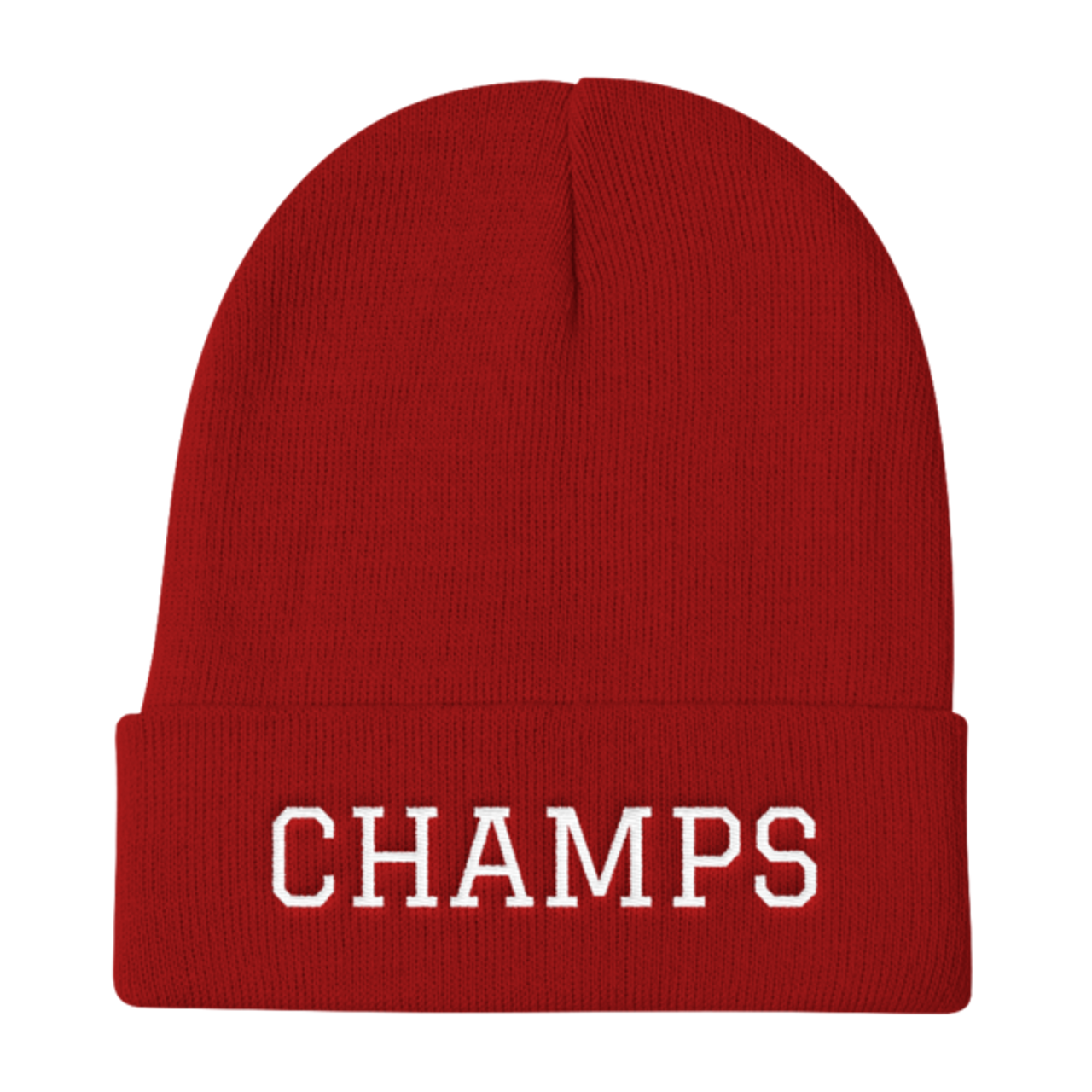 CHAMPS Embroidered Knit Beanie Red