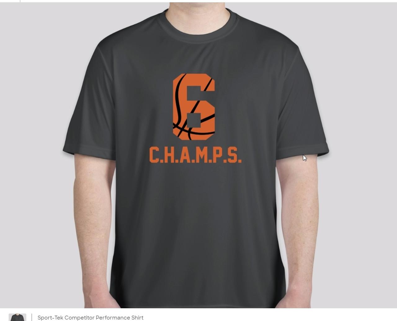 Performance CHAMPS Baskeball Team Shirt Big Ball 6