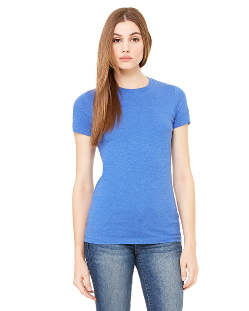 Bella + Canvas Ladies' The Favorite T-Shirt 6004 Heather True Royal