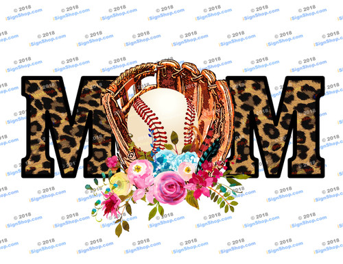 Baseball Mom Leopard Sublimation Print