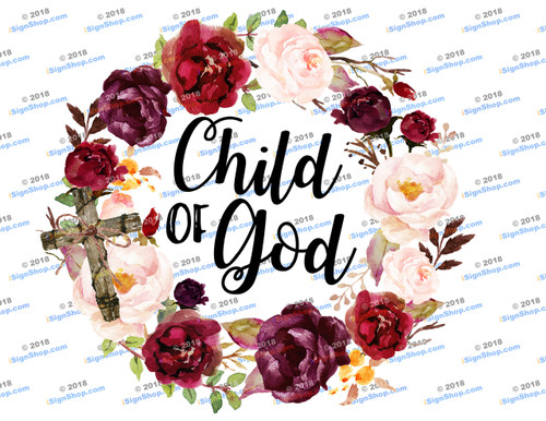 Child of God Sublimation Print