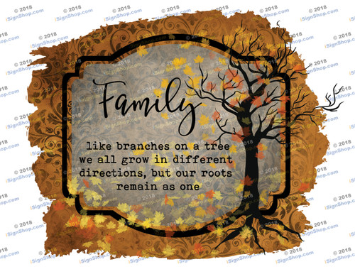 Family like branches on a tree Sublimation Print