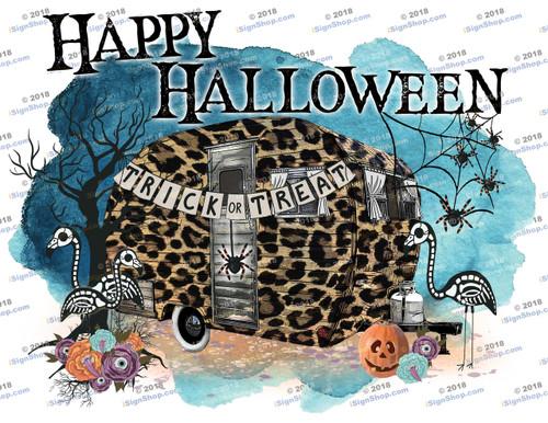 Happy Halloween Trailer Sublimation Print