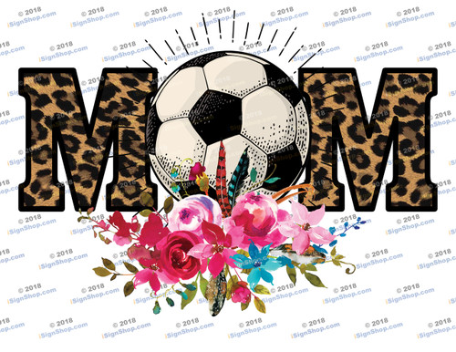 Soccer Mom Leopard Sublimation Print