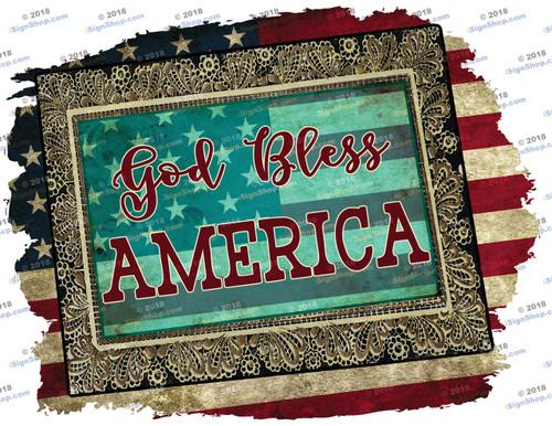 God Bless America Sublimation Print