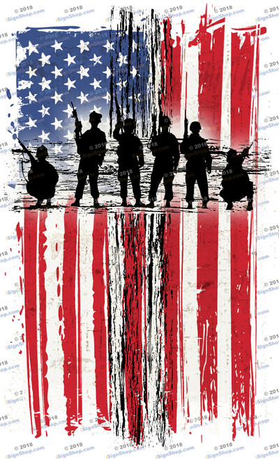 Thank God for American Soldiers Sublimation Print