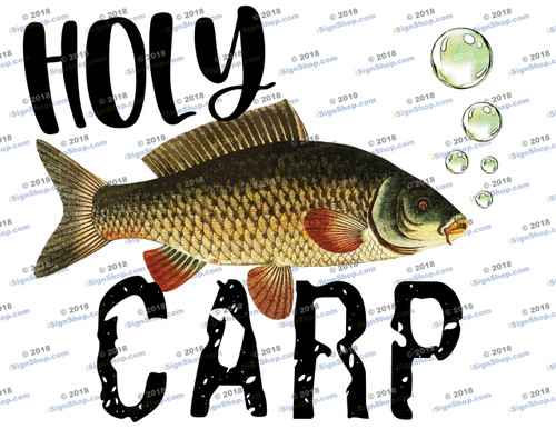 Holy Carp Sublimation Print