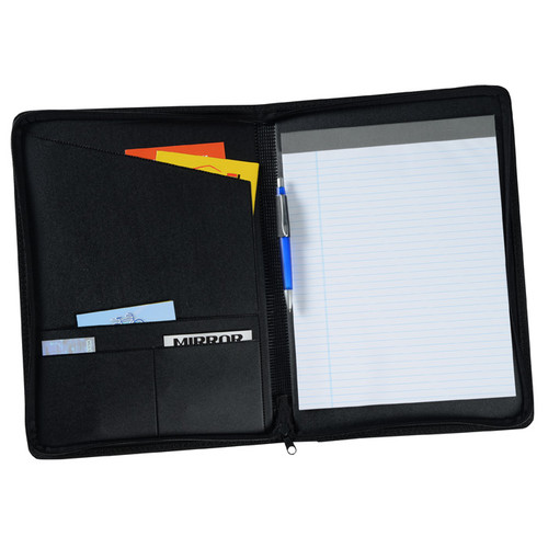 Jasper Ventures Script Zippered Padfolio (Zippered)