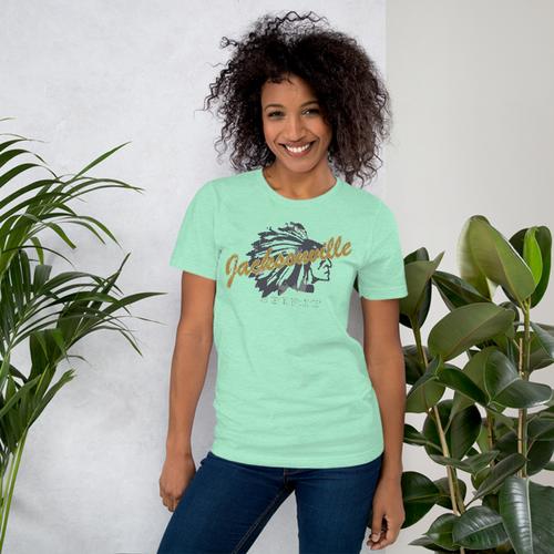 Jacksonville Indian Logo Short-Sleeve Unisex T-Shirt