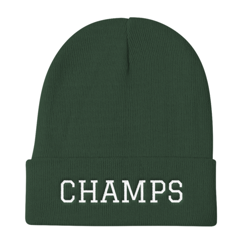 CHAMPS Embroidered Knit Beanie Green