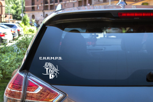 Champs window decal