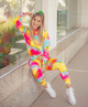 Brazilian Tie Dye Fashion Premium Fabric Women Pant Suite Outfit 1127