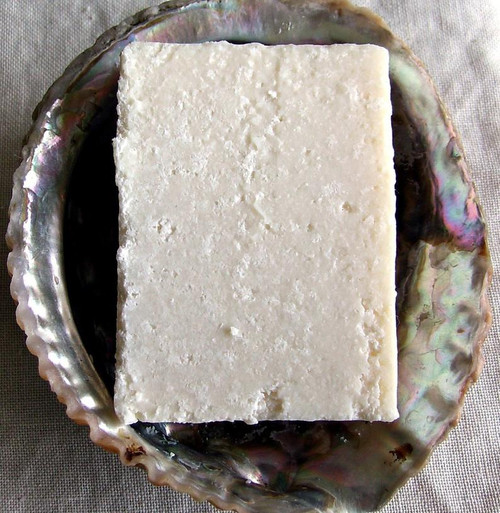 Lavender Spearmint Sea Salt Soap by Aquarian Bath, plastic free, palm oil free, vegan