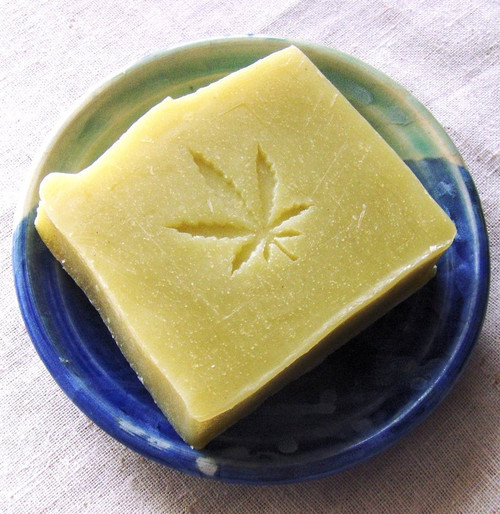 Hemp Oil soap with Hemp leaf stamp